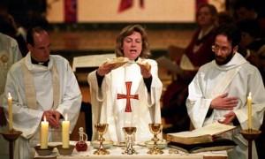 Reverend Angela Berners-Wilson breaks bread in 1994