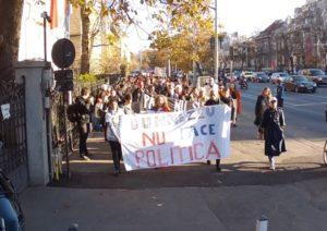 marș anti-coaliția pentru familie