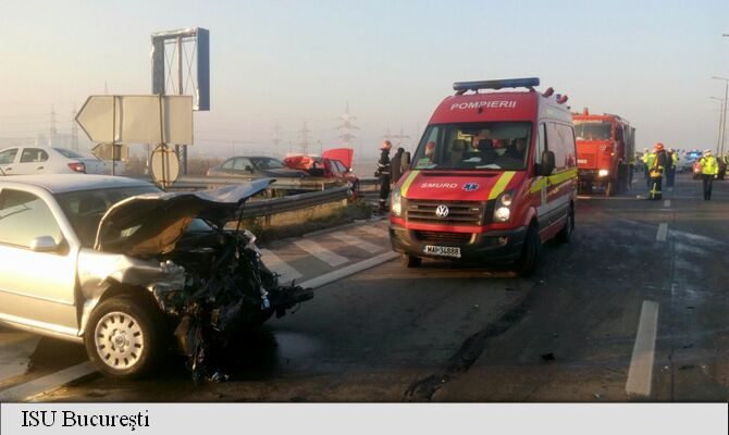 Accident pe autostrada soarelui din cauza poleiului