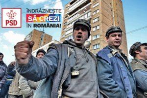 Mineri supărați venind spre București să bată studenți care nu votează cu Iliescu.