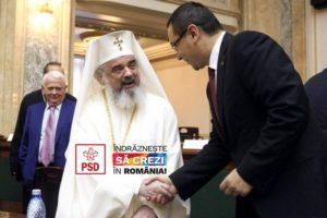 Ponta și Patriarhul Daniel