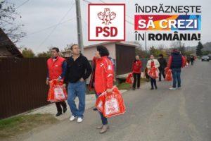 PSD împărțind pungi electorale