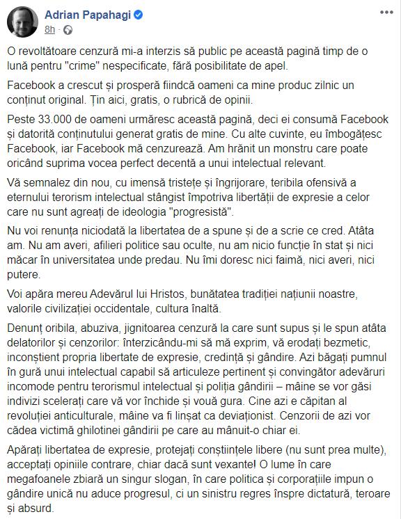 De ce nu ne place opinia lui Papahagi despre Facebook? 1